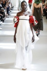 Maison Margiela Haute Couture Fall/Winter 2016 at Paris fashion week, July 2016 – runway dresses – sleeveless gowns – designer clothing – semi sheer pleats – pleated fabric