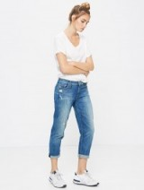 MOTHER Dropout rough it up jeans / blue vintage style denim / my casual weekend look / California fashion