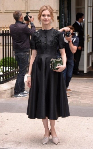 Natalia Vodianova in Dior at haute couture fashion week A ...