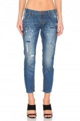 ONE TEASPOON FREEBIRDS bleu cult. Blue denim jeans   destroyed   light faded   distressed   cropped leg