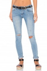 ONE TEASPOON HOODLUMS distressed skinny jeans in blue fox. Casual fashion   ripped denim   weekend style