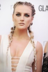 Perrie Edwards pigtail braids | celebrity hair | long braided hairstyles