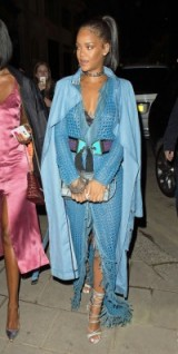 RiRi blue balmain leather dress ~ women with style