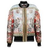 Roberto Cavalli Sound & Vision Bomber Jacket. Silk printed designer jackets | luxe casual fashion | luxury clothing