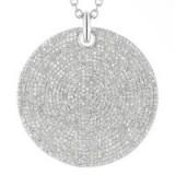 MONICA VINADER ~ AVA LARGE DISC DIAMOND PENDANT. Round pendants   pave diamonds   modern style jewellery   luxe accessories