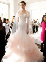 Marchesa layered tulle bridal gown – designer wedding dresses – luxe gowns – fairy princess