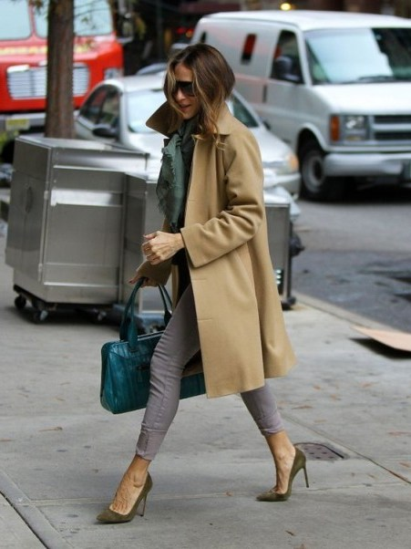 Sarah Jessica Parker casual chic street style ~ SJP outfits ~ coats - flipped