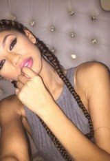 Zendaya braids & beauty ~ hairstyles ~ celebrity ~ make up ~ style