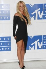 Britney Spears chose to wear an asymmetric style lbd by designer Julien McDonald at the 2016 MTV VMAs