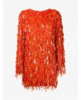 ASHISH Casino Sequin Embellished Mini Dress ~ tangerine sequins ~ orange dresses