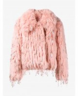 ASHISH Sequin Embellished Faux Fur Jacket ~ sequins ~ winter jackets ~ glamour ~ luxe