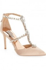 Badgley Mischka Decker Crystal Embellished T-Strap Pump, jewel embellishments, princess shoes, occasion heels, pointed toe pumps, evening glamour, glamorous party feet