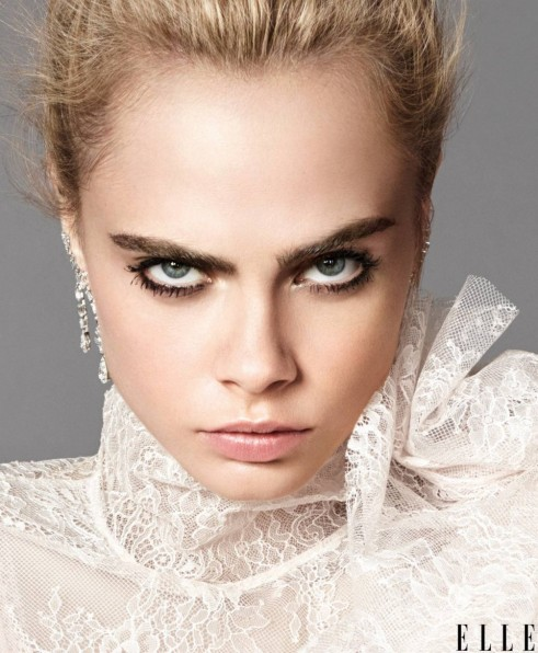 Cara Delevingne for Elle US September 2016 issue ~ celebrity photoshoots ~ make up & beauty