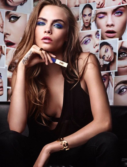 Cara Delevingne for the 2016 YSL Campaign ~ celebrity make up, hair & beauty ~ long hairstyles