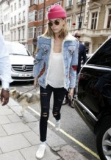 Cara street style out in London