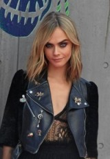 Cara Delevingne attends the Suicide Squad film premiere, at the Odeon Leicester Square in London, August 3, 2016