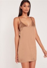carli bybel x missguided silky cami dress pink ~ short slip dresses ~ shop the trend ~ on trend fashion ~ strappy