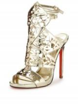 Carvela Goose Gladiator Sandal, gold high heels, evening glamour, glamorous going out shoes, party feet, metallic gladiators