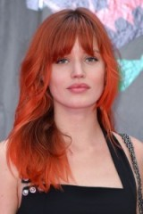 Georgia May Jagger long red hair with fringe ~ celebrity hairstyles