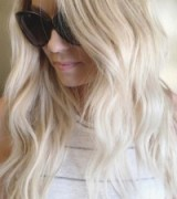 Lauren Conrad long wavy platinum blonde hair ~ celebrity hairstyles