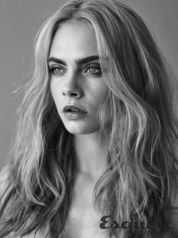 Cara Delevingne for Esquire UK ~ celebrity hairstyles ~ hair & beauty