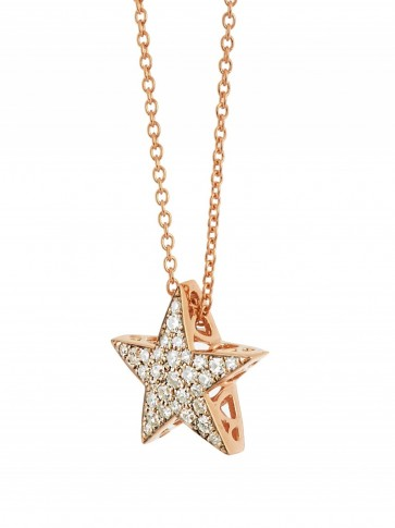 SELIM MOUZANNAR Diamond & pink gold Istanbul necklace star s