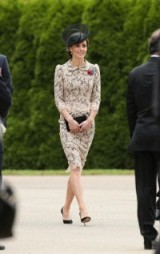 Catherine Duchess of Cambridge wore a nude lace dress with black underlay and complementing black accessories, when she visited France for the 100th anniversary of the Battle of the Somme, July 2016 ~ Kate Middleton style ~ royal dresses ~ celebrity fashion ~ event outfits
