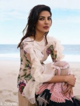 Priyanka Chopra for InStyle August 2016 ~ celebrity photoshoots ~ pink ruffled dresses ~ Indian actresses ~ hair and make-up