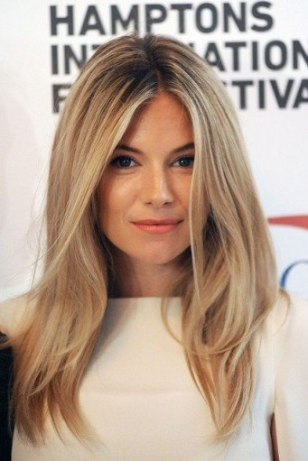 Sienna Miller with long blonde hair