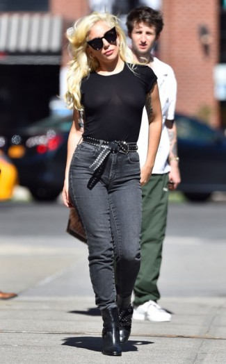 Lady Gaga Street Style Out In New York City Celebrity Fashion C