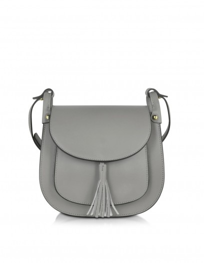 Le Parmentier Gray Leather Crossbody