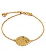 MONICA VINADER GOLD-PLATED WHITE TOPAZ SIREN SCATTER BRACELET. Delicate bracelets | modern style jewellery | luxe style jewelry