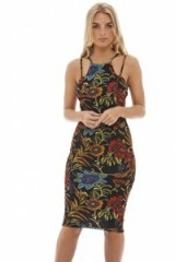 ax paris MULTI STRAP FLORAL BODYCON DRESS ~ flower printed dresses ~ fashion ~ prints