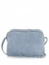 THE ROW Multi-pouch suede cross-body bag cornflower-blue. Luxury designer bags   crossbody   luxe accessories   Olsen twins clothing brand   handbags