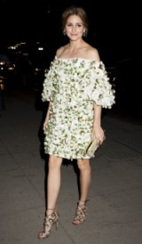 Olivia Palermo evening glamour ~ celebrity off the shoulder dresses ~ star outfits ~ style icon