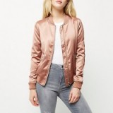 River Island Pink satin bomber jacket. Casual jackets | weekend fashion | on-trend outerwear