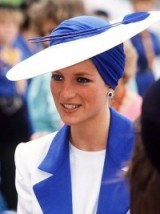 Princess Diana elegant and stylish in blue and white ~ royal hats ~ Diana's style