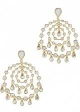 ISHARYA Pyramid Mirror Allure gold-plated earrings. Multi hoop drop earrings | designer fashion jewellery | cubic zirconia | large hoops | statement jewelry