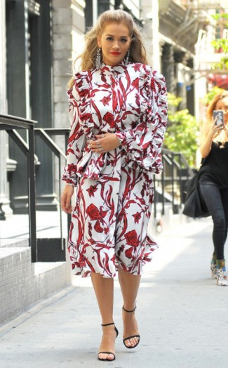 Rita Ora Street Style Leaving Her Apartment In New York