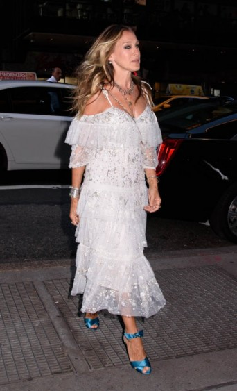 Sarah Jessica Parker arrives at the celebration of the ACE Awards in NYC ~ SJP style ~ dresses ~ fashion