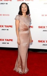 Actress Constance Wu style ~ stylish women ~ celebrity fashion ~ nude gowns