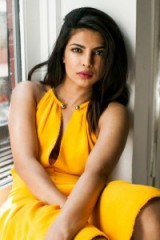 Priyanka Chopra by Andre Wagner for The Cut ~ celebrity photoshoots ~ yellow dresses ~ hair and make-up ~ Indian actresses