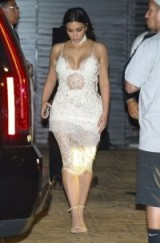 Kim Kardashian Ermanno Scervino white lace slip dress