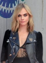 Cara Delevingne's wavy shoulder length hair ~ beauty ~ smokey eyes ~ nude lips ~ makup