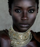 black beauty ~ beautiful women ~ statement jewellery ~ bling chokers