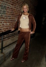 Paris Hilton style brown tracksuit and Hello Kitty top
