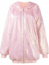 ASHISH oversized sequin hoodie ~ pink sequins ~ long sequins hoodies ~ casual luxe ~ shimmering fashion