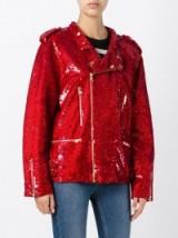 ASHISH sequin biker jacket ~ red sequins ~ shimmering jackets ~ designer fashion