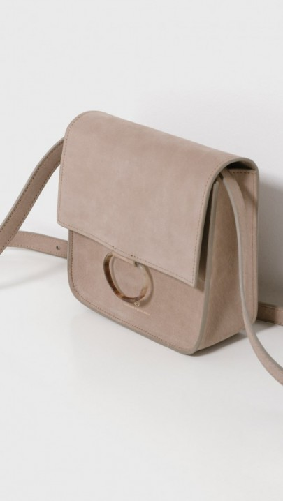 Brother Vellies Palma Leather Square Shoulder Bag – luxe accessories – artisan handbags – flap bags