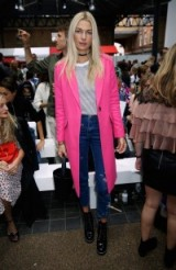 Jessica Hart front row at the Topshop Unique S/S 2017 show ~ London Fashion Week